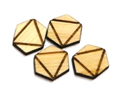 10PC (5pr)  Lasercut Geometric Shapes Hexagon #1 12mm