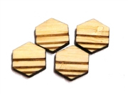 10PC (5pr)  Lasercut Geometric Shapes Hexagon #2 12mm