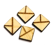 10PC (5pr)  Lasercut Geometric Shapes Diamond #3 10mm
