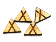 10PC (5pr)  Lasercut Geometric Shapes Triangle #4 10mm