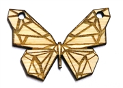 1PC   Lasercut Origami Butterfly Pendant Small