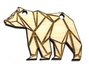 1PC   Lasercut Origami Bear Pendant Small 50x35mm