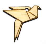 1PC   Lasercut Folding Bird Pendant Small
