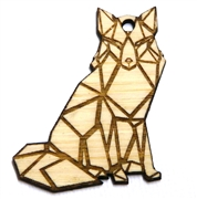 1PC   Lasercut Origami Fox Pendant Small 50x36mm