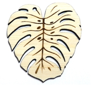1PC   Lasercut Monstera Leaf Pendant Charm large 67x60mm