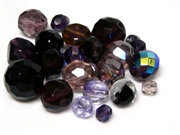 10gm Assorted Czech Fire polish Bead mix purple