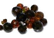 10gm Assorted Czech Fire polish Bead mix brown