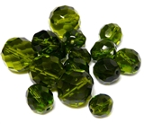 10gm Assorted Czech Fire polish Bead mix large olivine