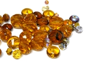 10gm Assorted Czech Fire polish Bead mix topaz gold