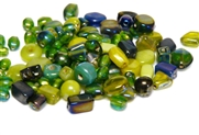 10gm luster beadmix assortment green