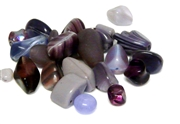 20gm czech glass beadmix mixed milky amethyst