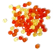20pc crystal bicones Orange Yellow Mix 4mm