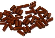 10gm czech glass large bugle beads opaque brown mix