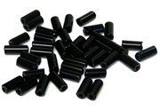 10gm czech glass large bugle beads jet black mix