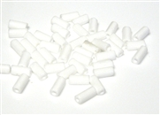 10gm czech glass large bugle beads white mix
