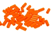 10gm czech glass large bugle beads orange mix