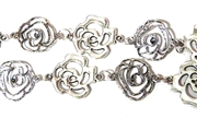 Antique Silver Duo Rose Chain (12 Link Length)