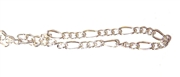 Antique Silver Figaro Chain 3mm 2M Length