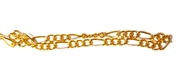 Antique Gold Figaro Chain 3mm 2M Length