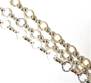 Antique Silver Round Link Chain 50CM Length