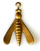 2pc brass charm fly 20x10mm