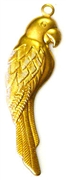 1pc brass charm parrot