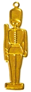 2pc brass charm marching soldier
