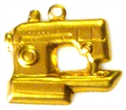 1pc brass charm sewing machine