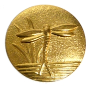 1pc brass round dragonfly charm 28mm