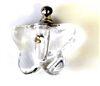 1pc glass butterfly vial pendant clear