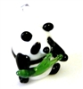1pc glass charm panda with branch 20x10mm