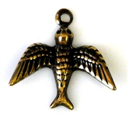 2pc antique gold charm small swallow 16mm