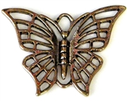 2pc antique gold charm butterfly 40x30mm