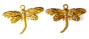 4pc gold plated dragonfly charms