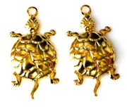 4pc gold plated turtle charms