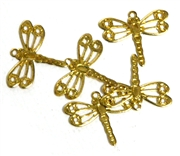 5pc antique gold mini dragonfly charm 15x12mm