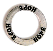1pc 22mm double sides toggle ring silver plated hope