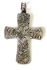 1pc hammered cross pendant/charm 46x29mm