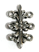 1pc antique silver flower 3 strand connector 25x15mm