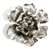 1pc antique silver 3d flower connector 2 strand 25x27mm