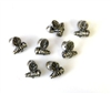 40pc antique silver pewter fly charms/beads