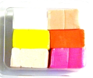 6pc clay assortment packet fluro