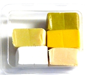 5pc clay assortment packet gold & white