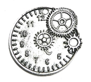 1pc antique silver watch clock pendant 32mm