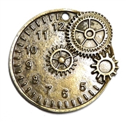 1pc antique brass watch clock pendant 32mm