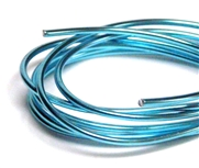 2mm Coloured Wire Aqua Blue - 1m length