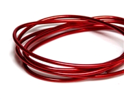 2mm Coloured Wire Red - 1m length