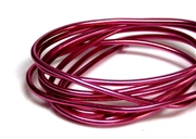 2mm Coloured Wire Pink - 1m length