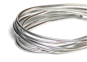 2mm Coloured Wire Bright Silver - 1m length