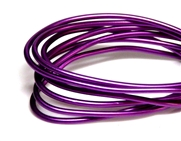 2mm Coloured Wire Purple - 1m length